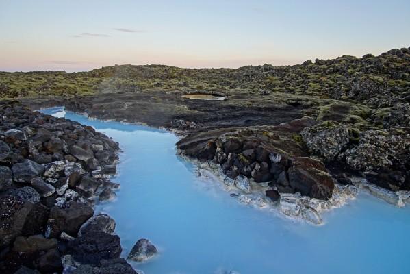 Blaue Sedimente