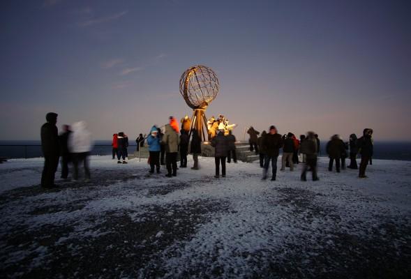 Nordkapp zur Dunkelsaison