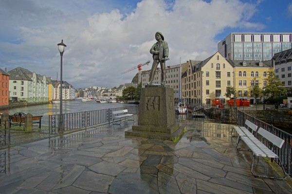 Alesund downtown