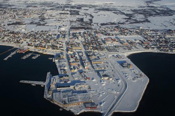 Zentrum von Vadsø