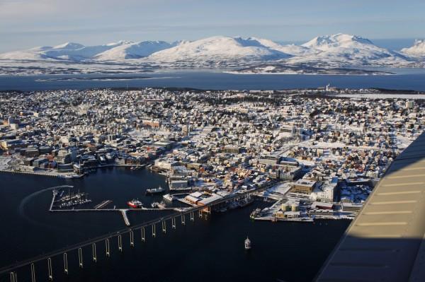 Tromsø von der Luft aus gesehen
