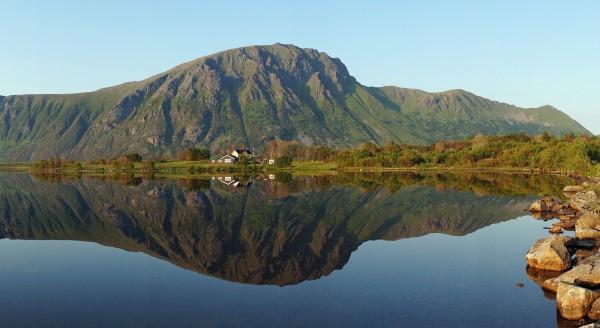 Spiegelung auf den Lofoten