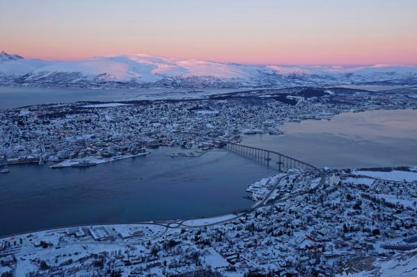 Tromsø in speziellem Licht