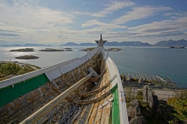 Henningsvaer, Boot von oben
