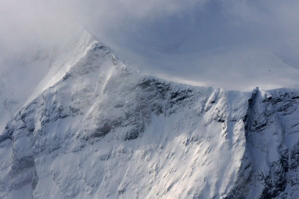 Windige Bergspitzen