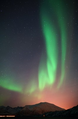 Stadtabstrahlung und Polarlicht