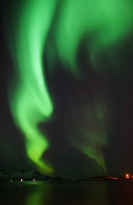 Tanzender Polarlichtschweif