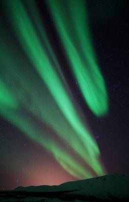 Abgeschnittenes Polarlicht