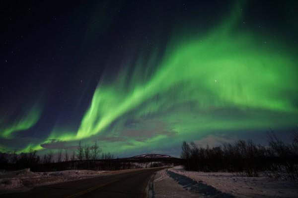 Tanzendes Polarlicht