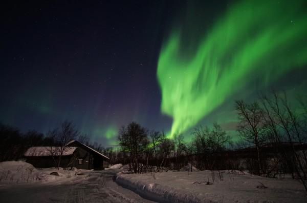 Haus unter dem Polarlicht 1
