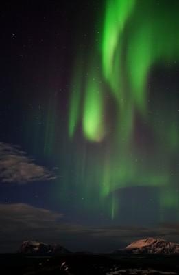 Das Polarlicht tropft vom Himmel