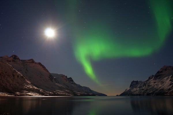 Ersfjord bei Vollmond