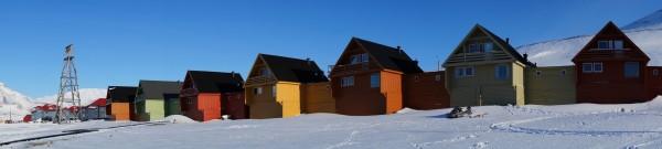 Häuserreihe in Longyearbyen