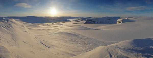 Aussicht über Gletscher