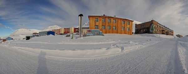 Strasse in Barentsburg