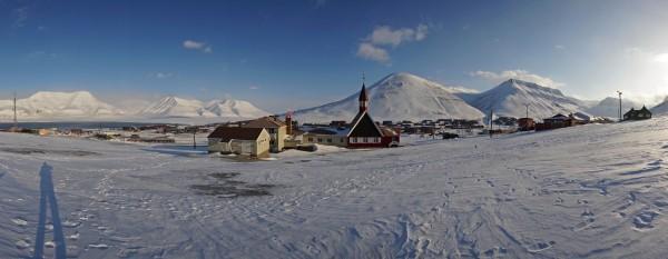Longyearbyen von Westen