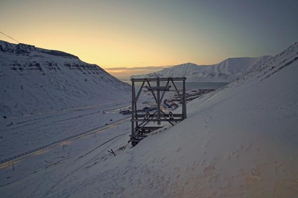 Longyearbyen von Norden