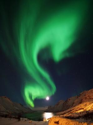 Ersfjord im Mondlicht