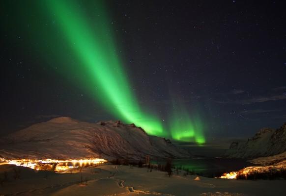 Polarlicht Scheinwerfer