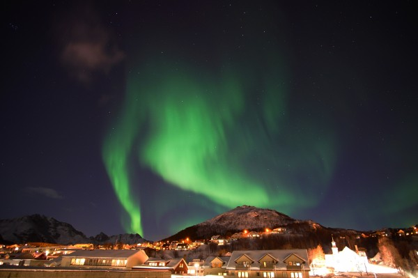 Polarlicht über Skjervøy