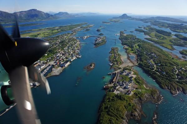 Brønnøysund aus der Luft
