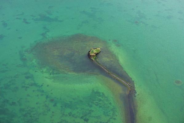 Einsame kleine Insel