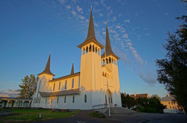 Reykjavik bei Sonnenuntergang