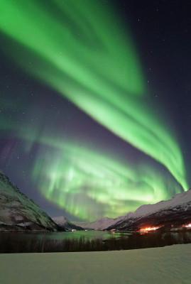 Nach dem Schnee kommt das Polarlicht