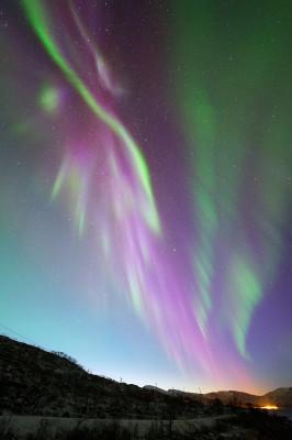 Polarlicht nach Sonnenuntergang
