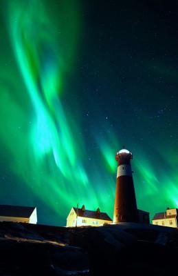 Polarlicht-Leuchtturm